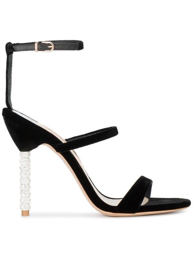 Black Velvet Rosalind 100 Sandals