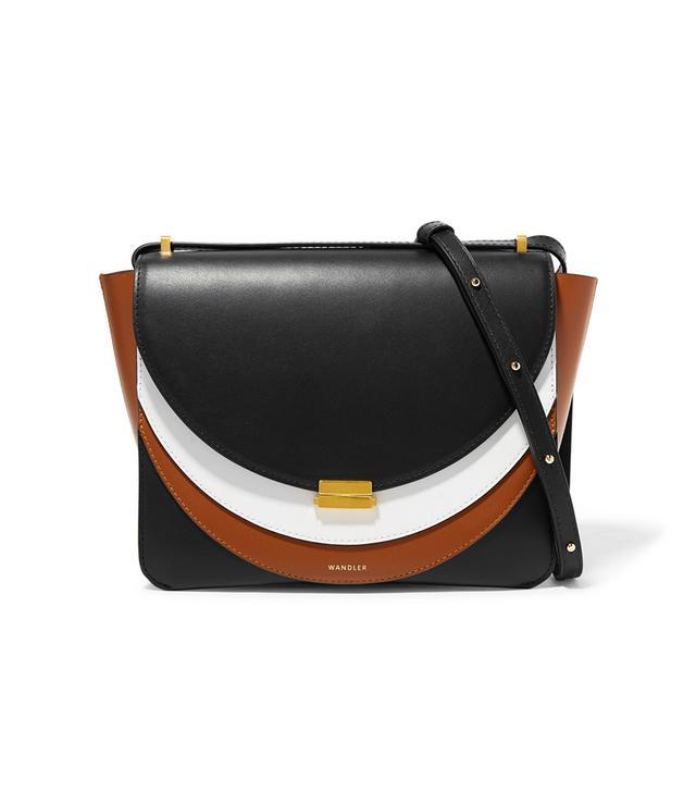Wandler Luna Color-block Leather Shoulder Bag