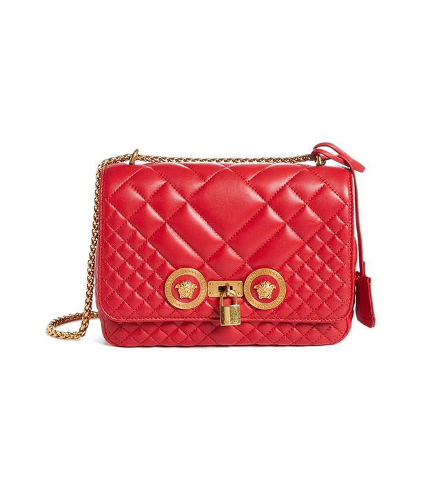 Versace  Icon Medium Quilted Leather Shoulder Bag -
