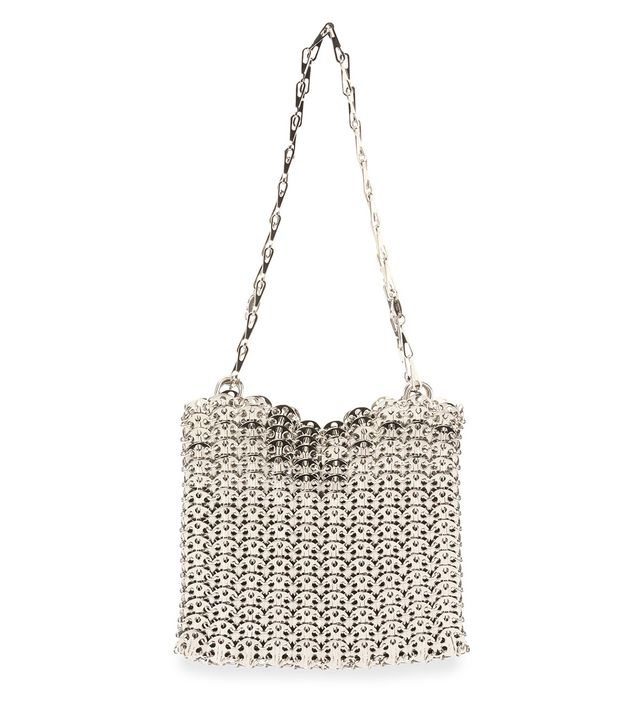 Paco Rabanne Iconic Chain-Mail Shoulder Bag - Silver