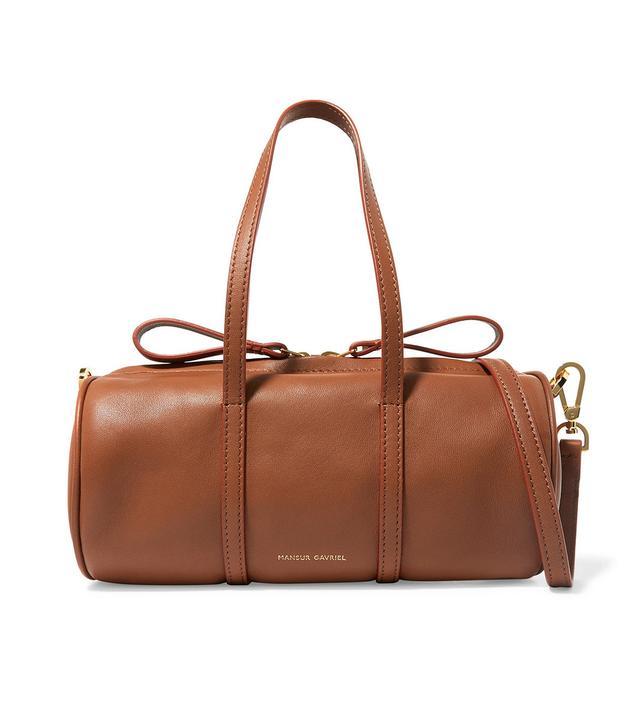 Mansur Gavriel Duffle Mini Leather Shoulder Bag