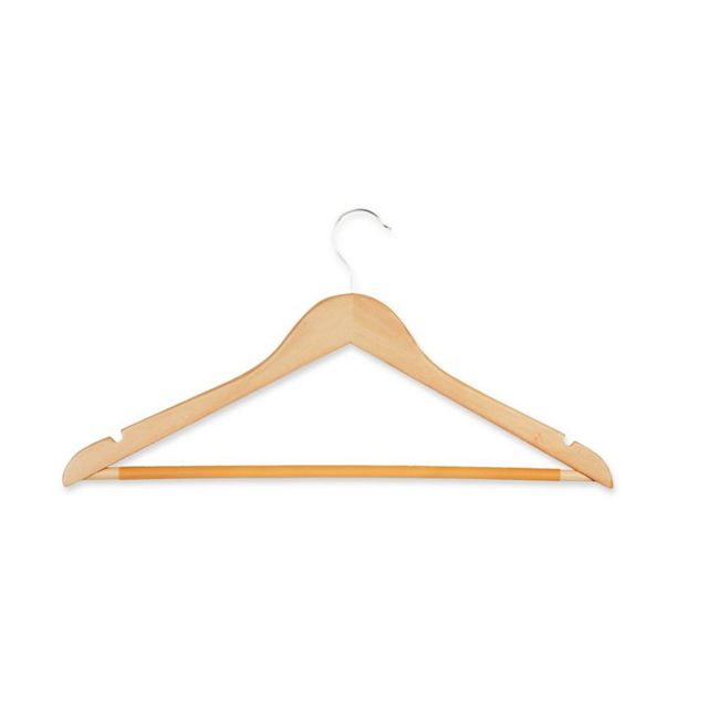Honey-Can-Do 28-Pack Wooden Hangers in Maple