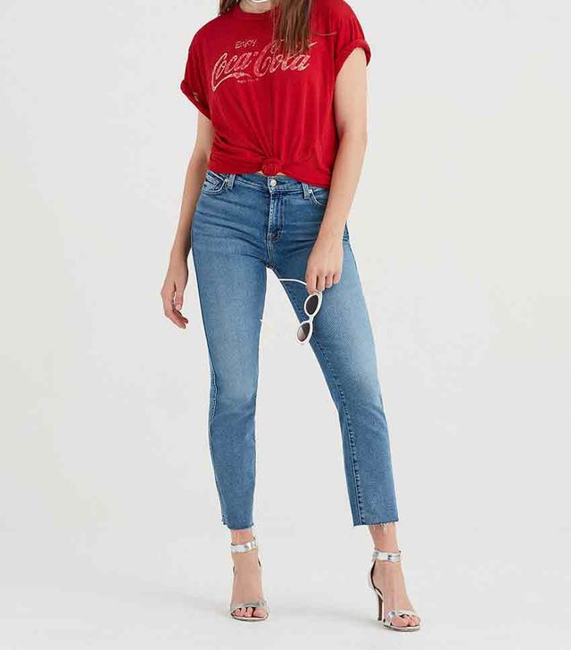 7 for All Mankind Luxe Vintage Edie With Cut-Off Hem
