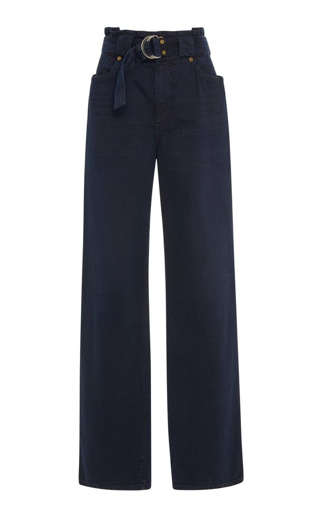 Jean Atelier Belted High-Rise Wide-Leg Jeans