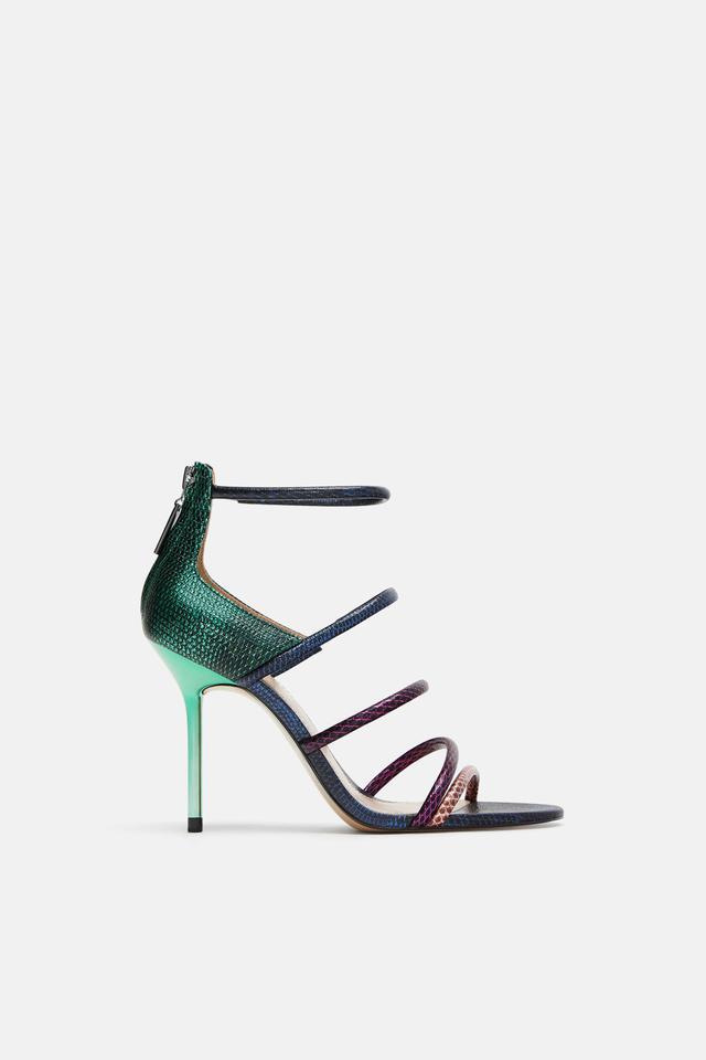 Zara Multicolored Strap Sandals