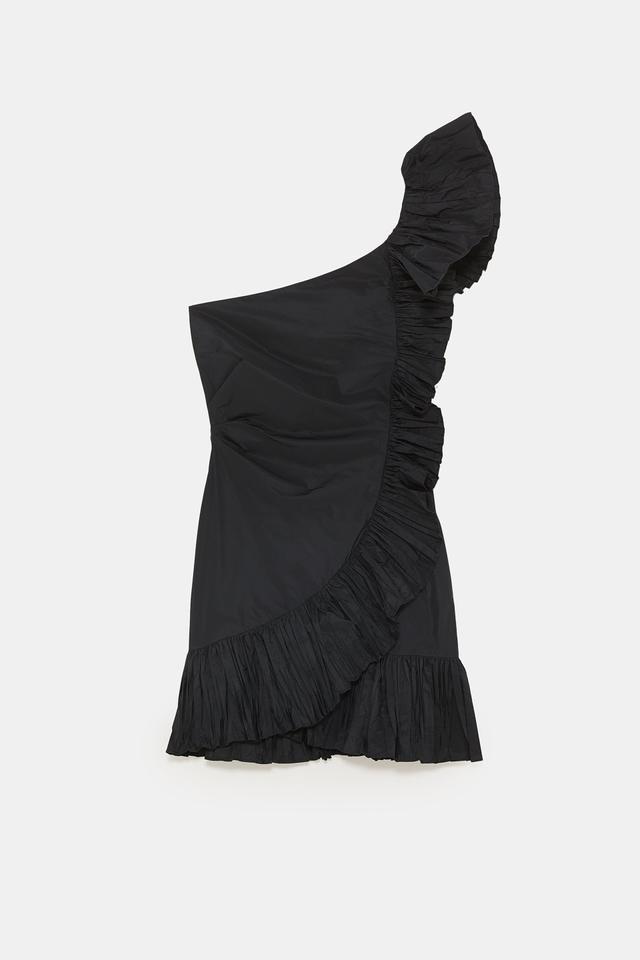 Zara Gathered Ruffle Dress