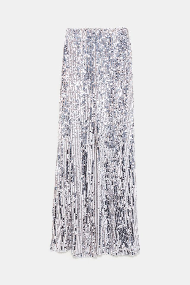 Zara Flared Sequin Pants
