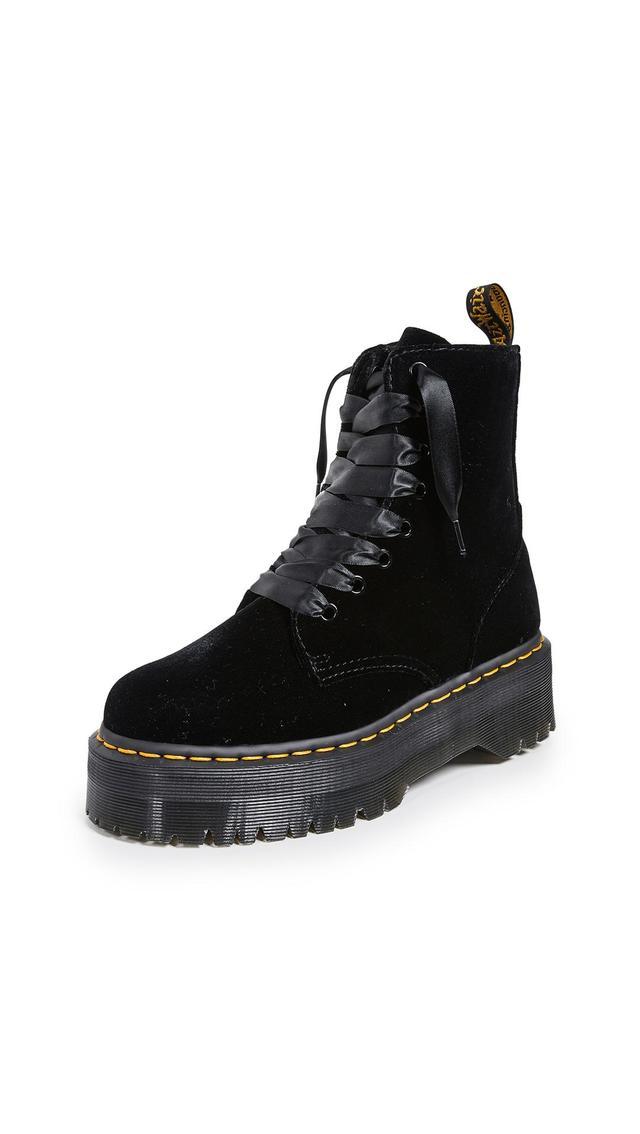 Jadon 8 Eye Velvet Boots