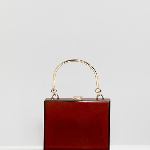 Triangular Plastic Clutch Bag