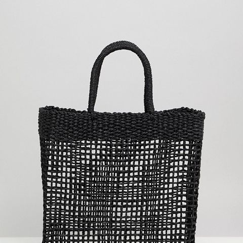 Woven Straw Shopping Bag