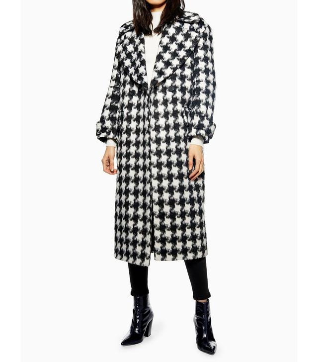 Topshop Houndstooth Coat