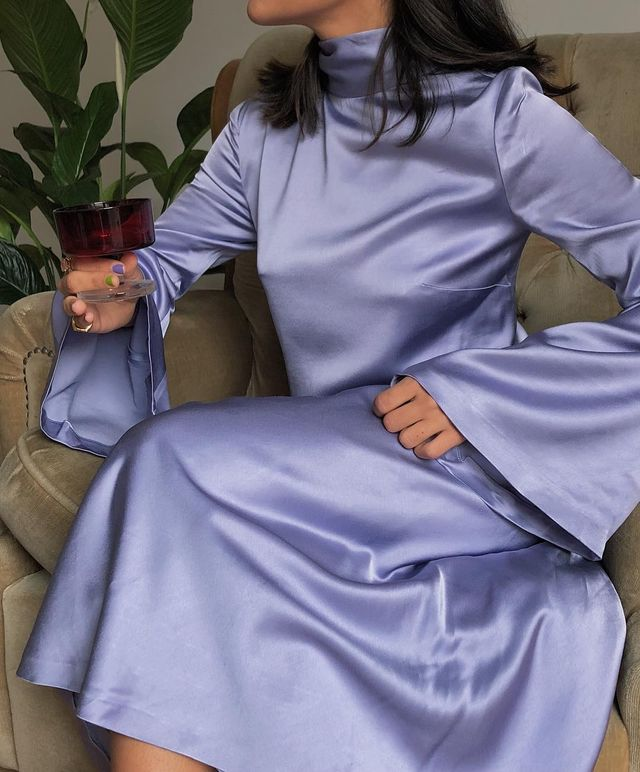 Best holiday outfits with a satin dress