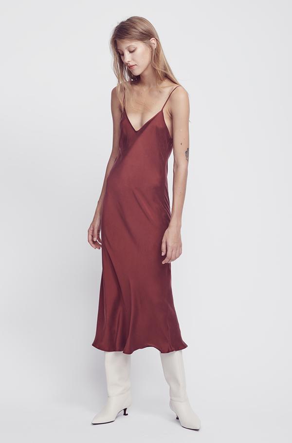 Silk Laundry '90s Silk Slip Dress