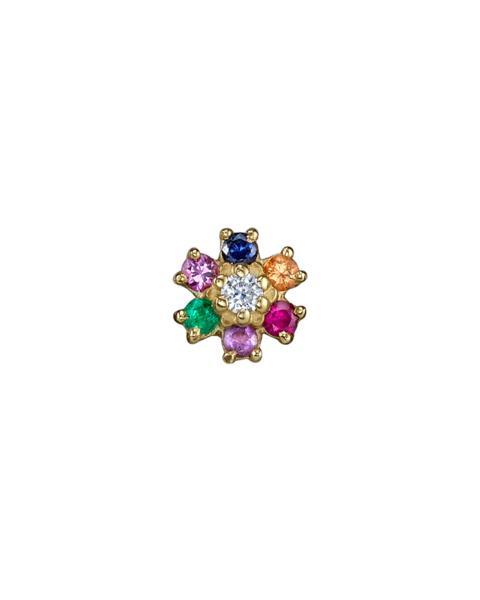 The Last Line Mini Rainbow Flower Stud