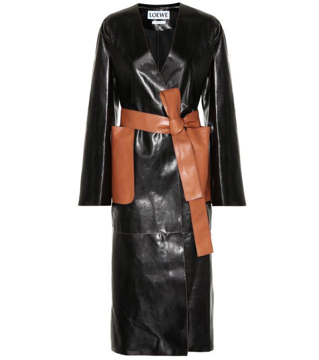 Loewe Leather Trench Coat