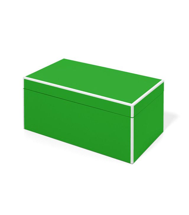 Fred H Staub Jewelers Elle Lacquer Jewelry Box Green