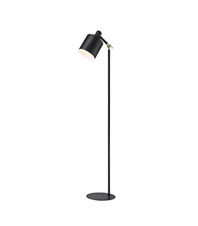 Lite Source Macall Black Metal Floor Lamp