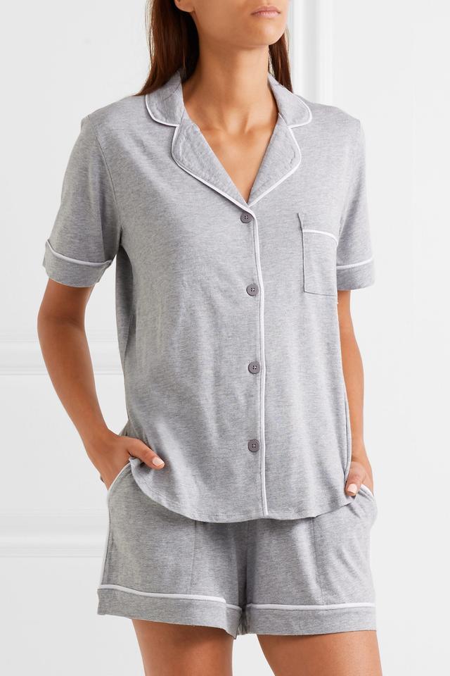 Signature Cotton-blend Jersey Pajamas