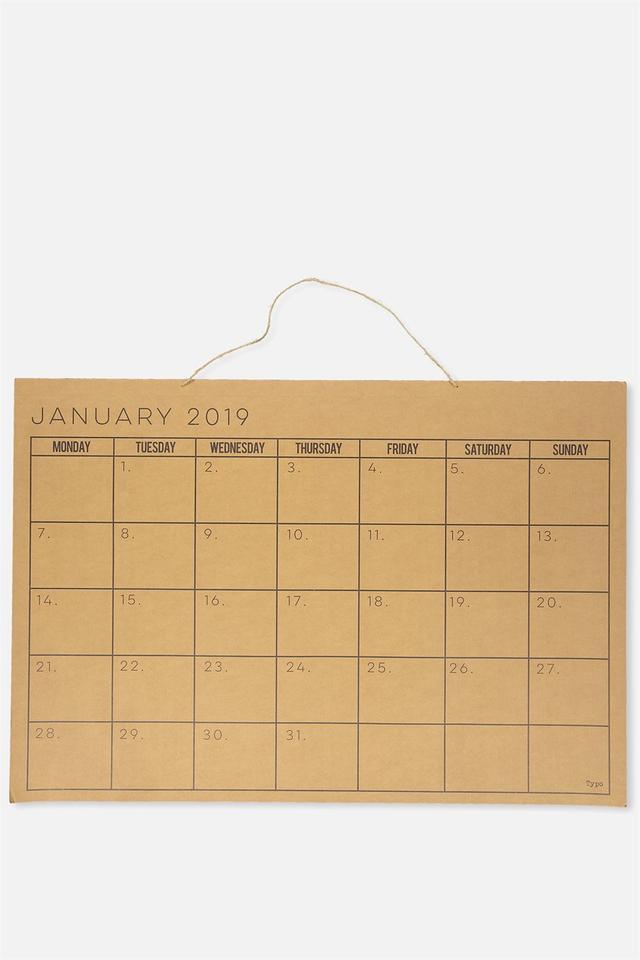 Typo 2019 A1 Wall Calendar