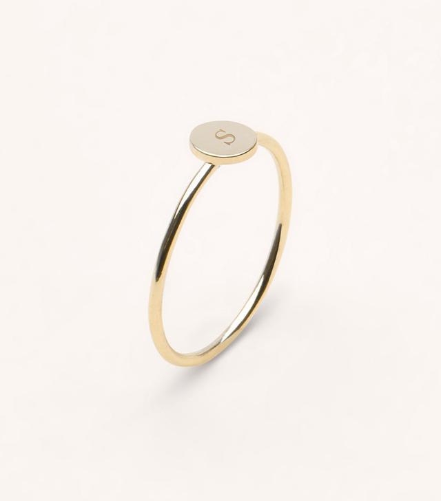 Vrai & Oro Initial Ring