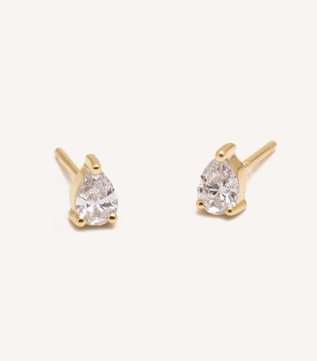 Vrai & Oro Pear Diamond Earrings