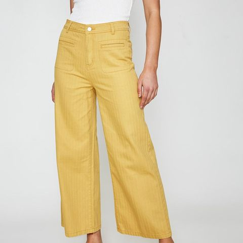 Riley Pocket Cropped Pant Dusky Lemon