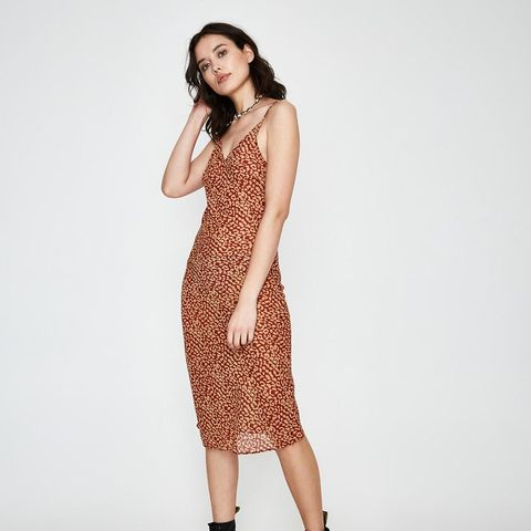 Desert Silky Dress Red Leopard