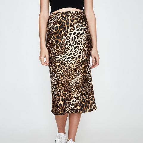 Westworld Print Midi Skirt Leopard