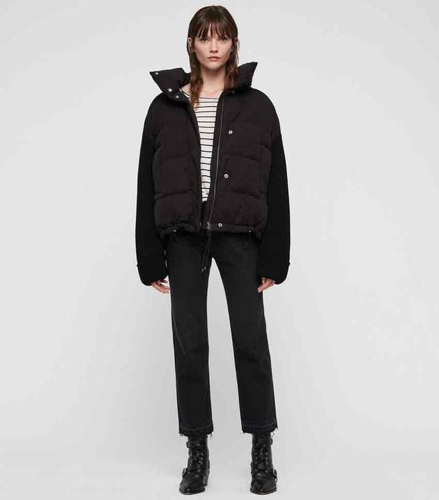 AllSaints Ines Knit Puffer Coat,