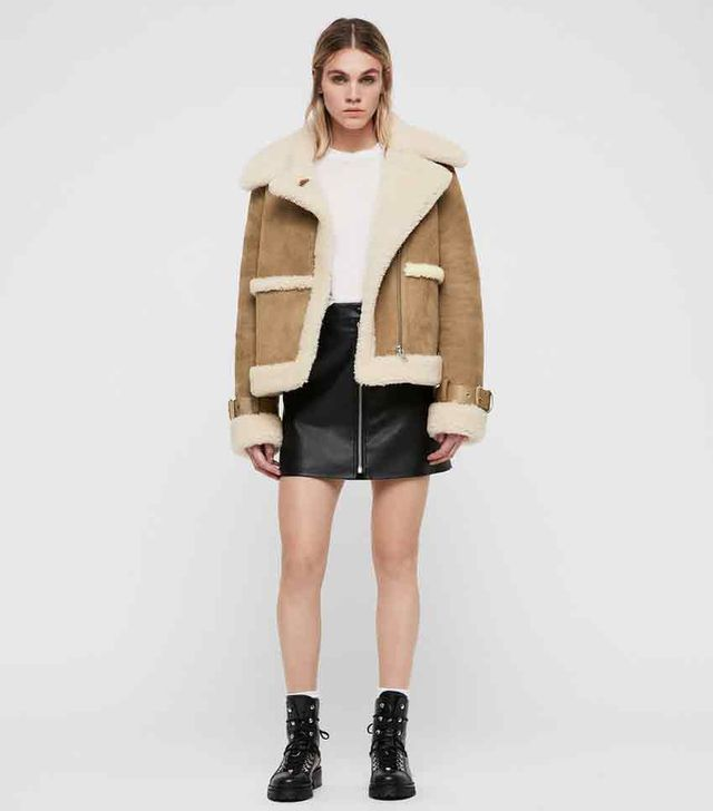 AllSaints Farley Shearling Coat