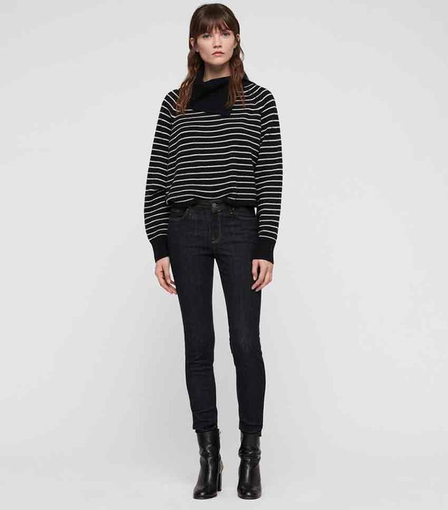 AllSaints Maddie Cropped Roll Neck Sweater