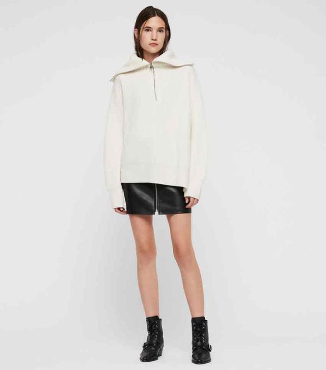 AllSaints AMI Roll Neck Sweater
