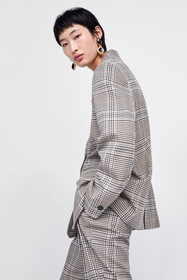 Zara Plaid Blazer