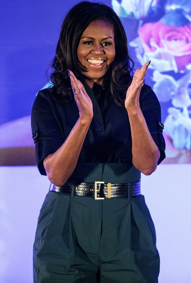 Michelle Obama Book Tour Pantsuits Wearing Givenchy