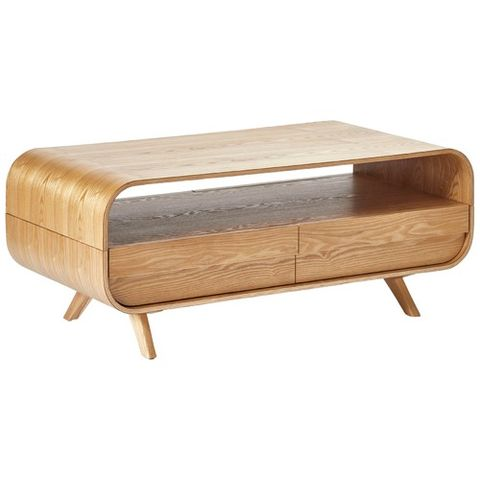 Maegan Ash Rounded Coffee Table