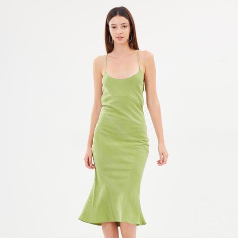 Tie Back Bias Slip Dress