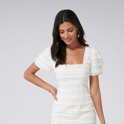 Chloe Broderie Mini Dress