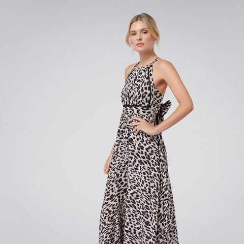 Elka Lace Spliced Maxi Dress