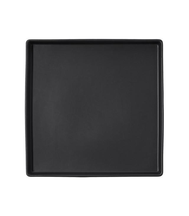 CB2 Bento Matte Black Square Platter