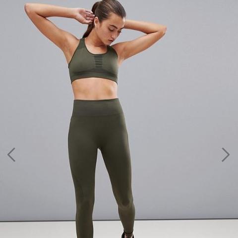 Performance Seamless Leggings in Green