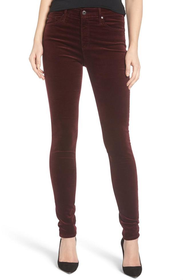 AG Women's Ag The Farrah High Waist Velvet Jeans