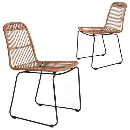 Dwell Home Faux Rattan Dining Chairs (Set of 2)