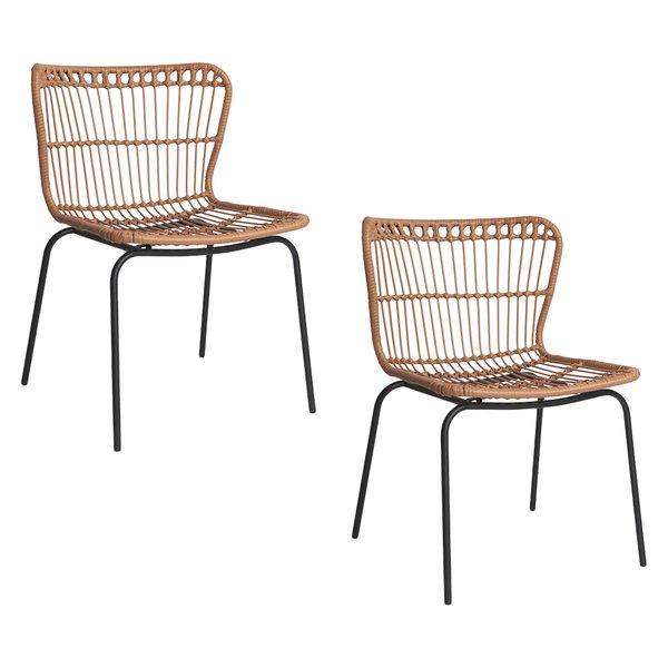 Resort Living Kantuta Outdoor Dining Chair, Natural (Set of 2)