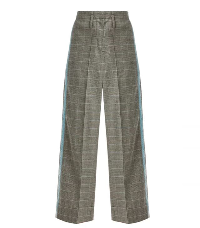 Racil Nitta Houndstooth Wool-Blend Trousers