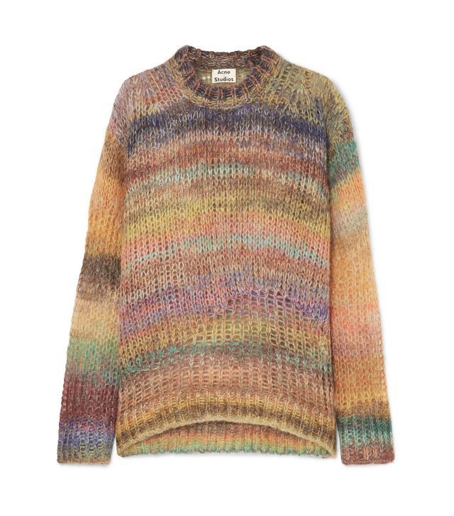 Acne Studios Striped Open-knit Sweater