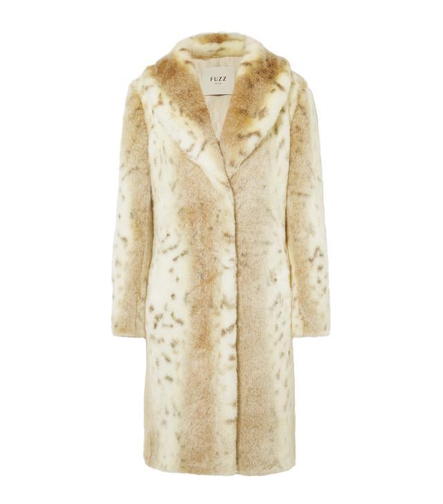 Fuzz Not Fur Snow Knight Faux Fur Coat