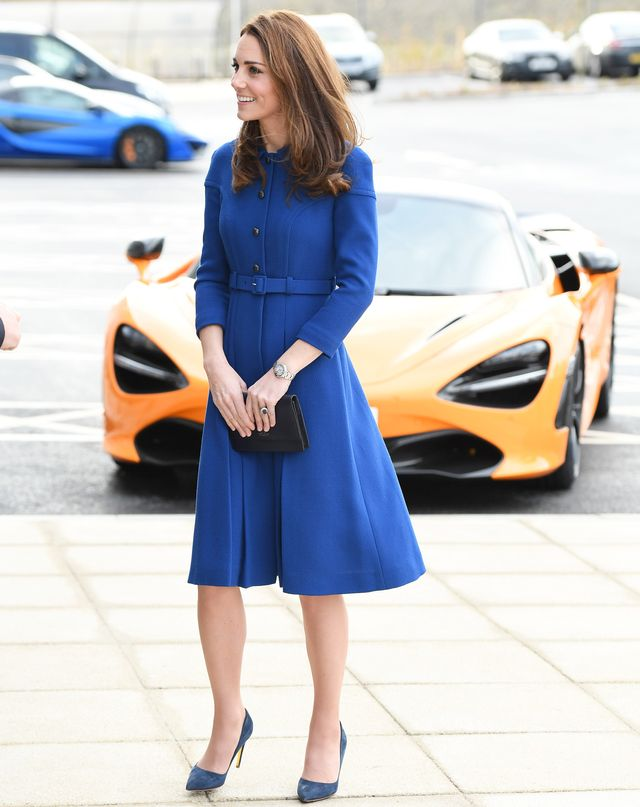 """<p><strong>On Kate Middleton:</strong> Eponine London coat; Rupert Sanderson <a href=""""https://www.rupertsanderson.com/us/malory-black-suede.html"""" target=""""_blank"""">Malory Pumps</a> ($735, available in..."""