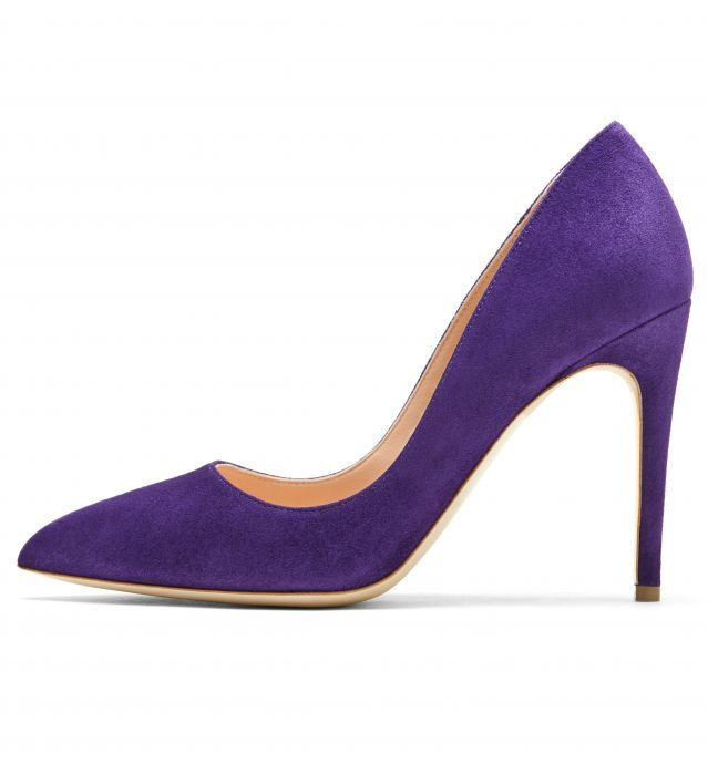 Rupert Sanderson Malory Shoes in Midnight Suede