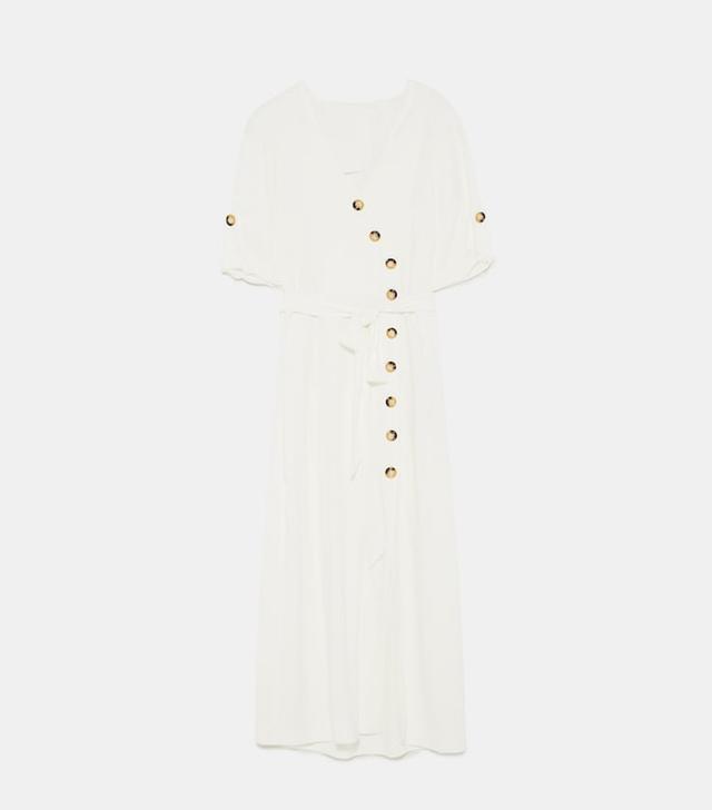 Zara Midi Dress With Buttons