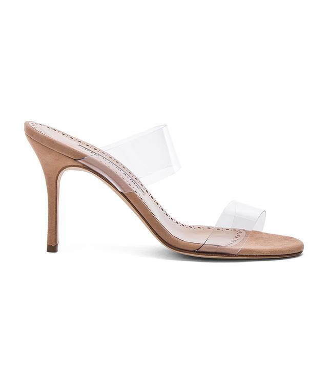Manolo Blahnik PVC Scolto Sandals